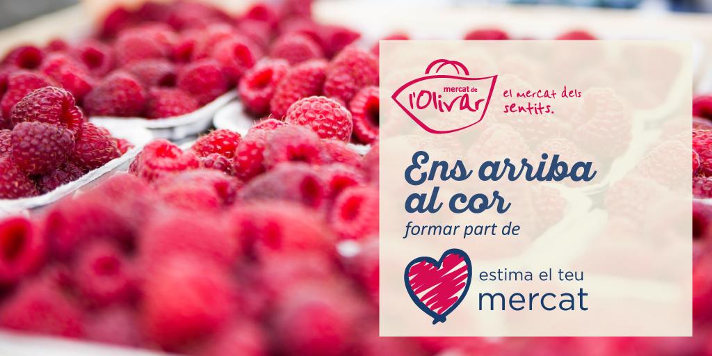 Mercat de l'Olivar se une a la iniciativa #megustamimercado2018
