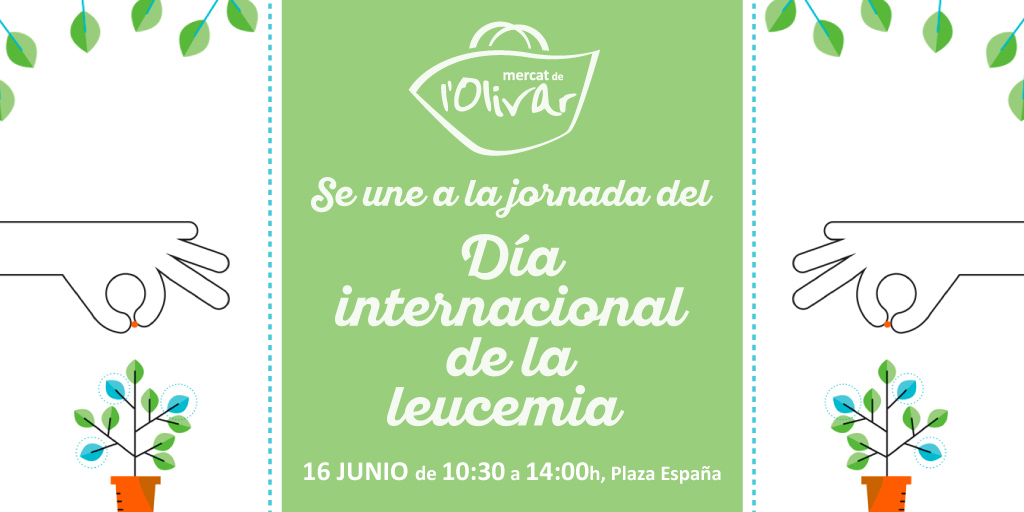 Mercat de l'Olivar celebra el «Día internacional de la leucemia» en favor de la Fundación Josep Carreras