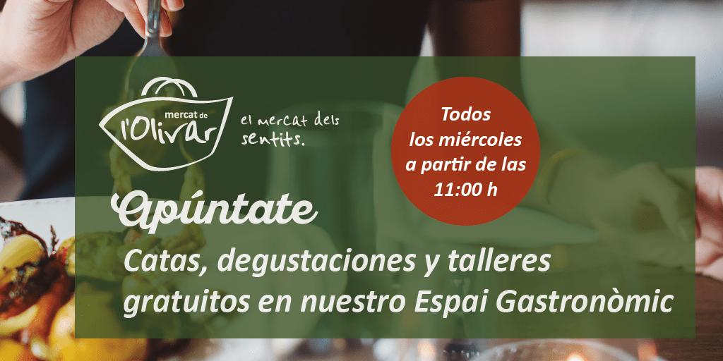 Participa en las catas, degustaciones y talleres gratuitos de septiembre en Mercat de l'Olivar
